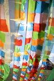 Drapeaux de prière Photo stock