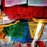 Drapeaux de prière Images libres de droits