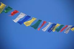 Drapeaux de prière au Népal. Photographie stock libre de droits