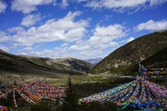 Drapeaux de prière dans toutes les couleurs Image stock
