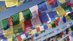 Drapeaux de prière Photos stock