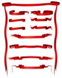 Drapeaux de rouge de cru Image libre de droits