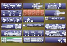 Drapeaux de services de vecteur réglés. Photographie stock libre de droits