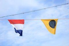 Drapeaux de signal colorés Images libres de droits