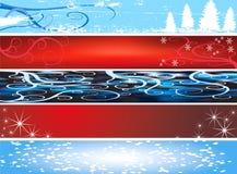 Drapeaux de site Web de Noël Photos libres de droits