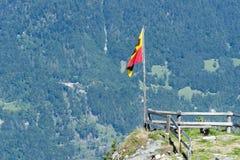 Drapeaux de Suisse de canton Photographie stock libre de droits