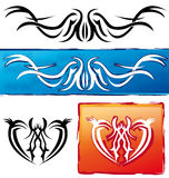 Drapeaux de tatouage Images libres de droits