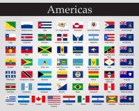 Drapeaux de tous les pays des continents am?ricains illustration de vecteur