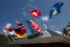 Drapeaux de toutes les nations Photographie stock