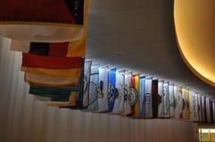 Drapeaux de toutes les tribus de Natif américain Photo stock
