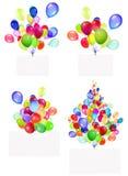 Drapeaux de vacances avec les ballons colorés Photo libre de droits