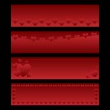 Drapeaux de Valentine Images stock