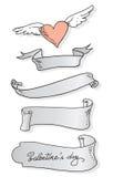 Drapeaux de Valentine Photos libres de droits