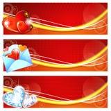 Drapeaux de Valentine Image stock