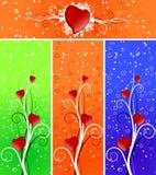 Drapeaux de Valentine illustration de vecteur