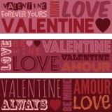 Drapeaux de Valentine Photo libre de droits