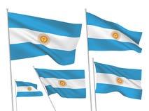 Drapeaux de vecteur de l'Argentine Photos libres de droits