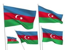 Drapeaux de vecteur de l'Azerbaïdjan Images libres de droits