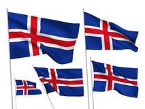 Drapeaux de vecteur de l'Islande Photographie stock