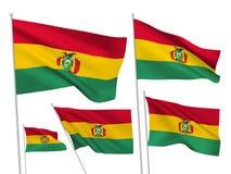 Drapeaux de vecteur de la Bolivie Image libre de droits
