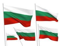 Drapeaux de vecteur de la Bulgarie Images libres de droits
