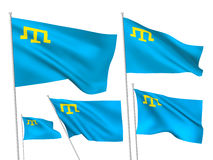 Drapeaux de vecteur de la Crimée Images libres de droits