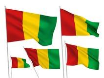 Drapeaux de vecteur de la Guinée Photographie stock libre de droits