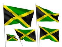 Drapeaux de vecteur de la Jamaïque Photos stock