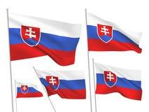 Drapeaux de vecteur de la Slovaquie Photo libre de droits