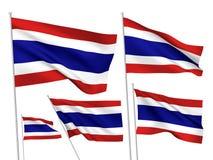 Drapeaux de vecteur de la Thaïlande Images stock
