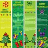 Drapeaux de vecteur de Noël Image stock