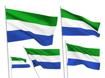 Drapeaux de vecteur de Sierra Leone Photo libre de droits