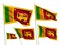 Drapeaux de vecteur de Sri Lanka Photo stock