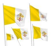 Drapeaux de vecteur de Vatican Photographie stock libre de droits