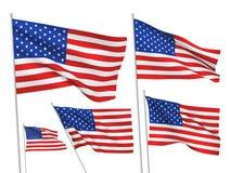 Drapeaux de vecteur des Etats-Unis Etats-Unis Photographie stock