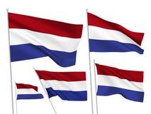 Drapeaux de vecteur des Pays-Bas Photographie stock