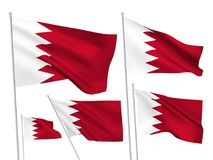 Drapeaux de vecteur du Bahrain Photo libre de droits