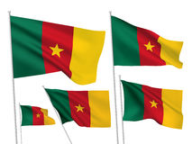 Drapeaux de vecteur du Cameroun Photo stock