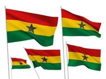 Drapeaux de vecteur du Ghana Photo libre de droits