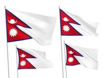 Drapeaux de vecteur du Népal Photographie stock libre de droits