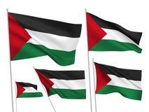 Drapeaux de vecteur de la Palestine Image libre de droits