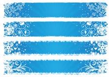 Drapeaux de vecteur pour l'hiver Photos libres de droits