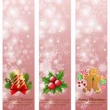 Drapeaux de verticale de cru de Noël. illustration de vecteur