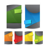 Drapeaux de Web Photo stock