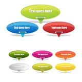 Drapeaux de Web Images stock