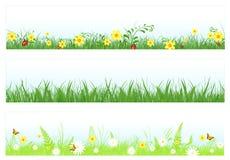 Drapeaux de Web d'herbe illustration de vecteur