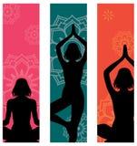 Drapeaux de yoga illustration libre de droits