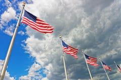 Drapeaux des Etats-Unis d'Amérique Photographie stock libre de droits