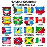 Drapeaux des pays de l'Amérique du Nord Photo stock
