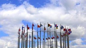 Drapeaux des pays européens Photos libres de droits